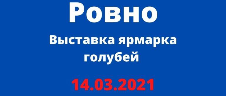 Выставка ярмарка голубей, Ровно 14.03.2021