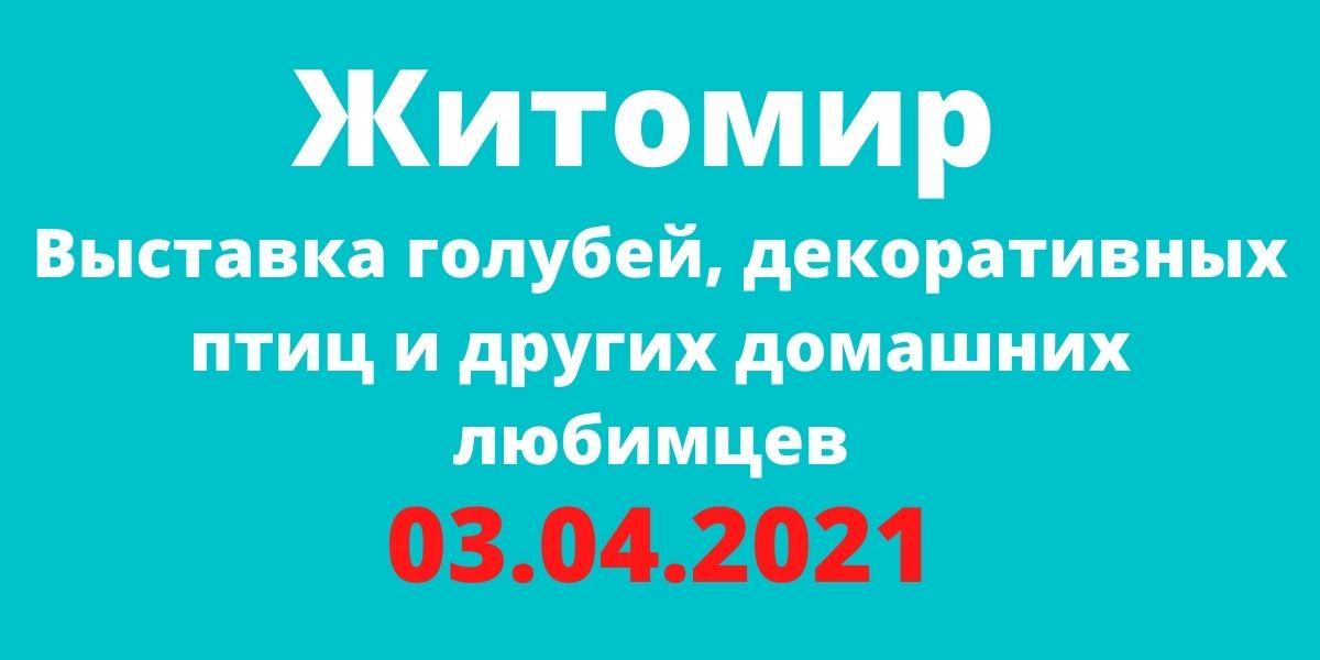 Выставка голубей, декоративных птиц и других домашних любимцев 03.04.2021 Житомир